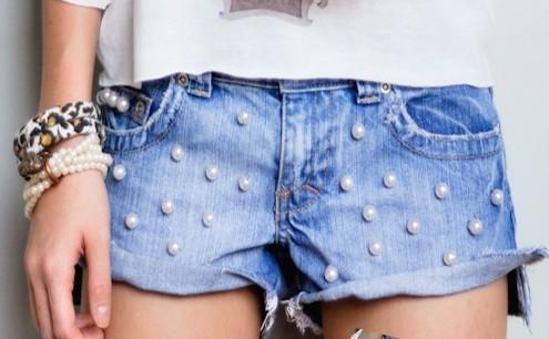shorts perolas