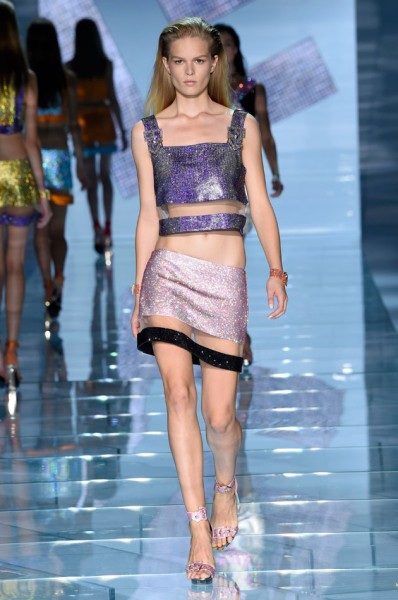 versace top cropped 2015