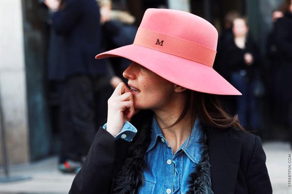 pink fedora