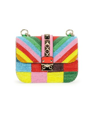 Valentino-Multicolor-Beaded-Rockstud-1973-Lock-Flap-Small-Bag-Cruise-2015 bag rainbow