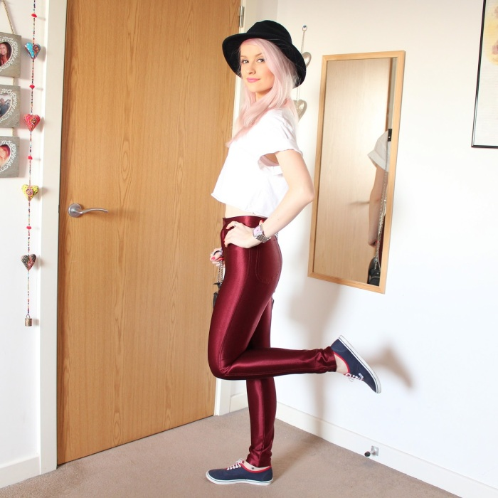 disco pants vinho