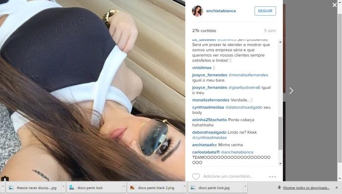 instagram anchieta bianca body preto e branco