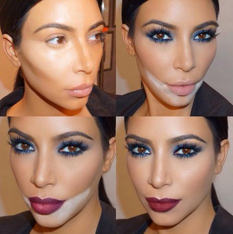 baking kim kardashian makeup