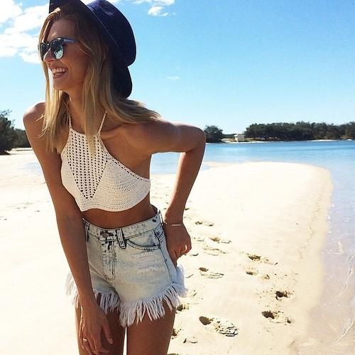 croche na praia