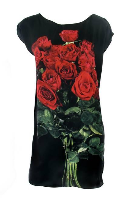estampa rosas vermelhas