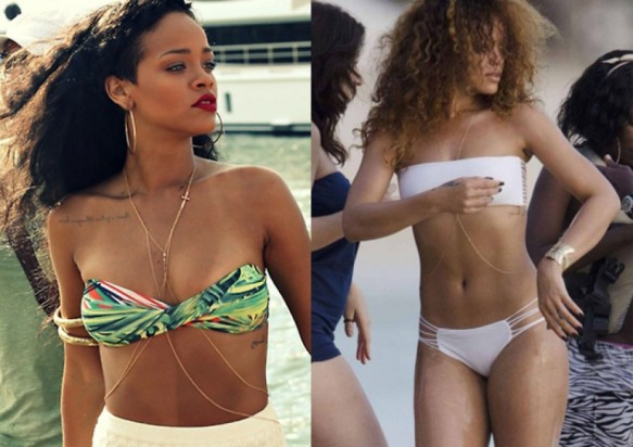 rihanna body chain