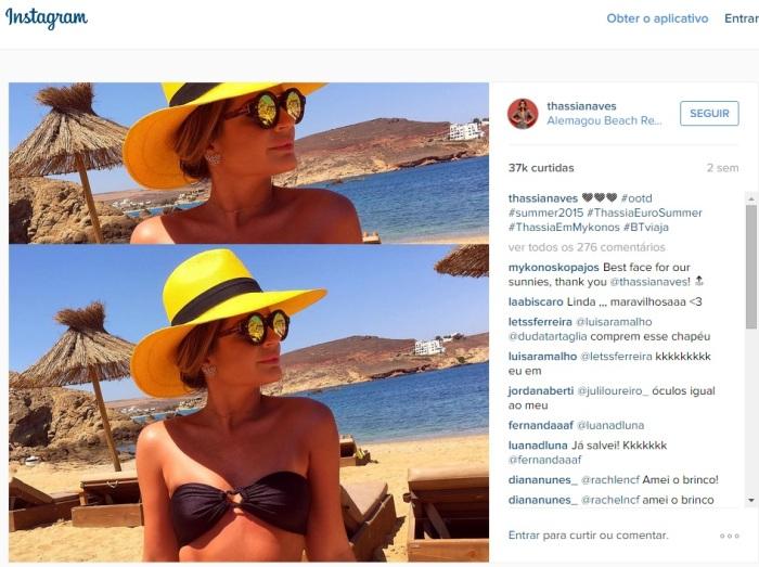 thassia chapeu amarelo