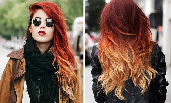 cabelo vermelho sunset