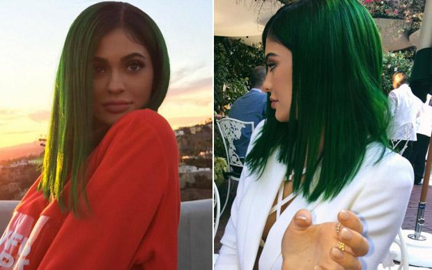 kylie jenner cabelo verde