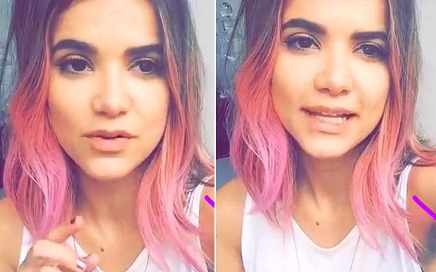 manu gavassi cabelo rosa
