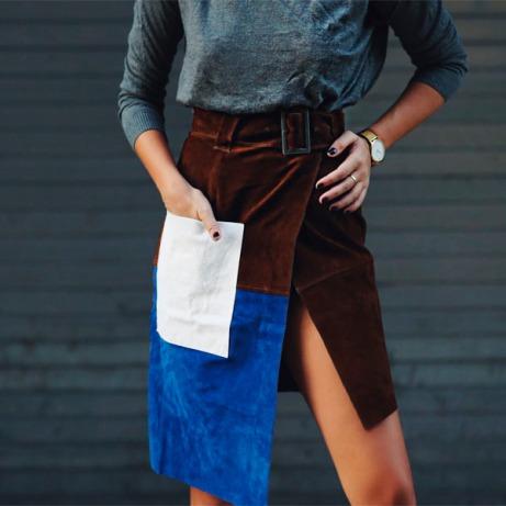 saia-patchwork-marrom-com-azul