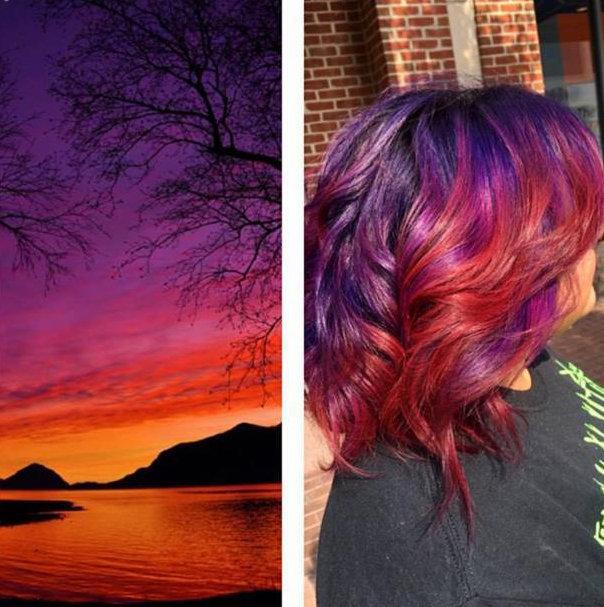 sunset hair 7