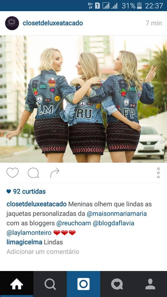 jaqueta com patches closet de luxo atacados