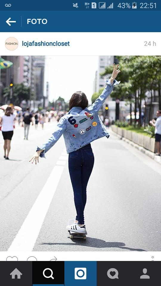 jaqueta com patches fashion closet 1