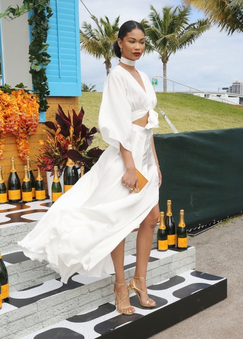 MIAMI, FL - FEBRUARY 20: Chanel Iman attends Veuve Clicquot Hosts Second-Annual Clicquot Carnaval in Miami at Museum Park on February 20, 2016 in Miami, Florida. (Photo by Aaron Davidson/Getty Images)