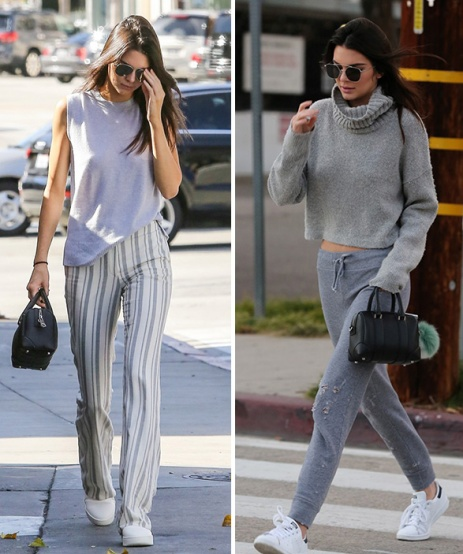 kendall-jenner looks cinza